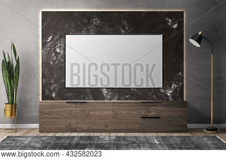 TV in luxury living room