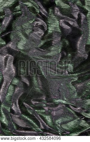 Silky green and silver fabric mobile phone wallpaper