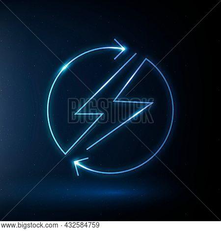 Lightning icon renewable energy symbol