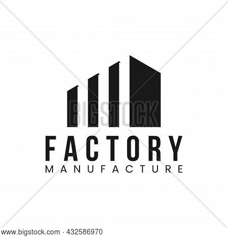 Factory Manufacture Logo Design Vector Icon Illustration