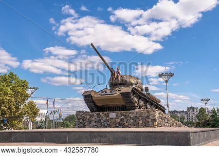 Monument To Tank In Tiraspol, Transnistria