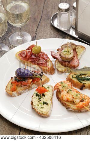variety of spanish pinchos( italian cicchetti )