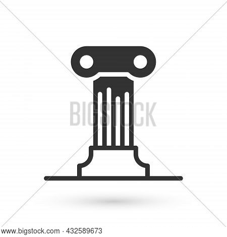 Grey Law Pillar Icon Isolated On White Background. Ancient Column. Vector