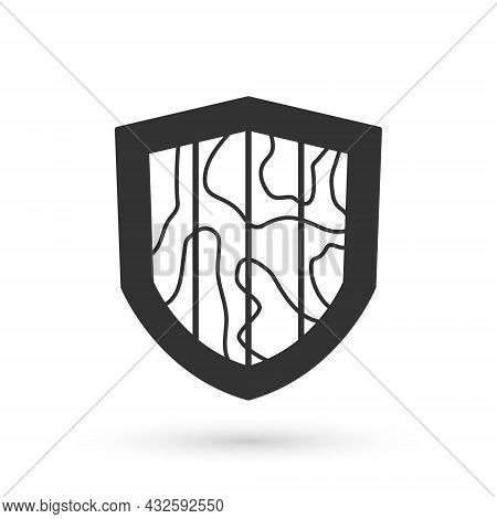 Grey Shield Icon Isolated On White Background. Guard Sign. Security, Safety, Protection, Privacy Con