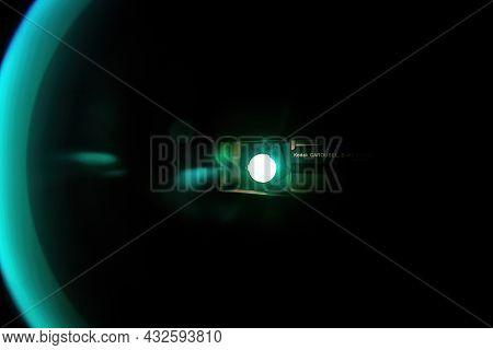 London, United Kingdom - Mar 10, 2017: Working Light Of The Kodak Carousel S-av 2050 Slide Projector
