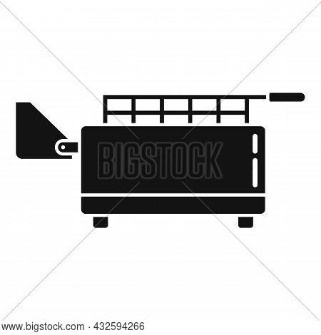 Kitchen Deep Fryer Icon Simple Vector. Fry Basket. Oil Machine