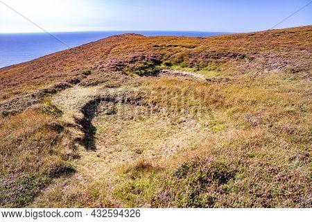 Sinkhole At The Coastal Region Of Donegal - Ireland
