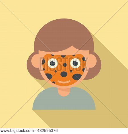 Cobra Face Painting Icon Flat Vector. Child Paint. Kid Mask