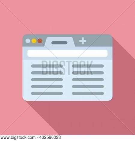 Browser Url Icon Flat Vector. Computer Interface. Bar Screen Frame