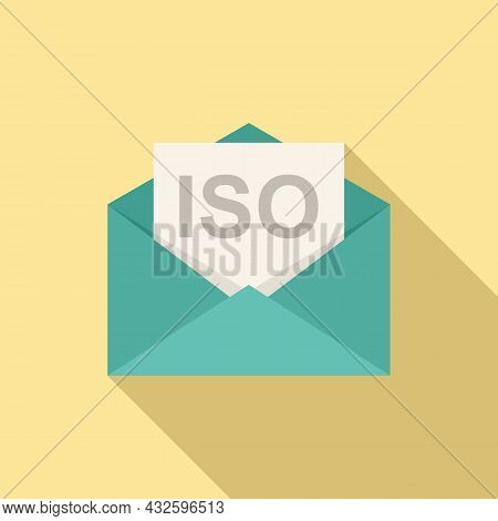 Standard Iso Mail Icon Flat Vector. Policy Quality. Compliance Business