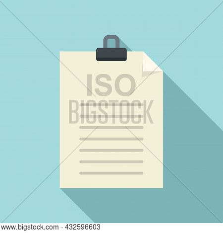 Law Standard Icon Flat Vector. Policy Compliance. Quality Iso