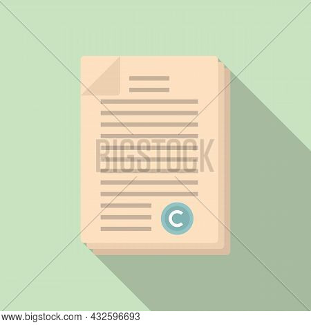 Company Standard Icon Flat Vector. Regulatory Iso. Law Process