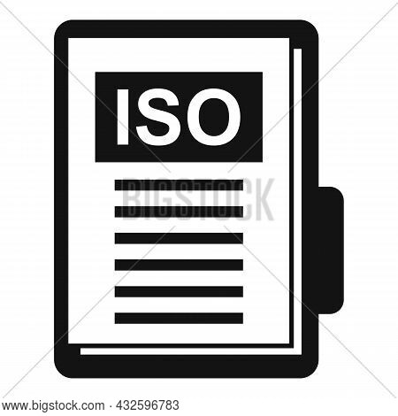 Standard Compliance Icon Simple Vector. Policy Quality. Regulatory Iso