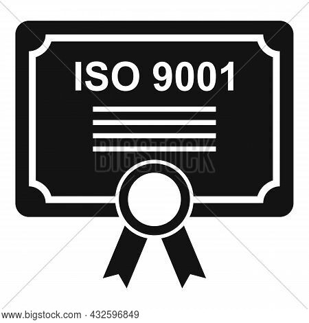 Standard Process Icon Simple Vector. Policy Compliance. Law Iso