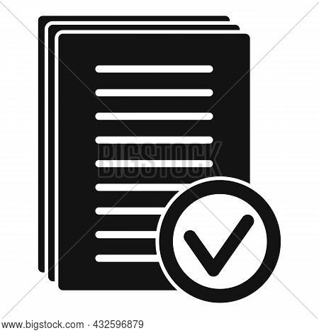 Standard Regulation Icon Simple Vector. Policy Quality. Test Rule