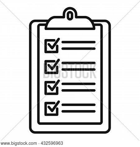 Standard Clipboard Icon Outline Vector. Policy Quality. Compliance Regulatory