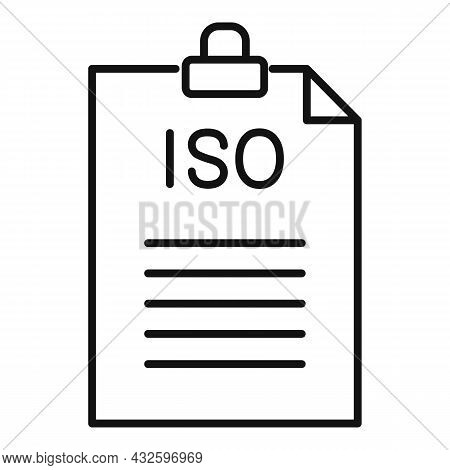 Standard Compliance Icon Outline Vector. Policy Quality. Regulatory Iso