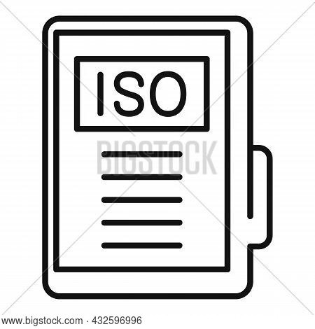 Business Standard Icon Outline Vector. Policy Quality. Regulatory Law