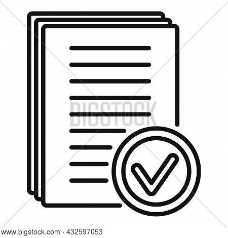 Legal Standard Icon Outline Vector. Quality Compliance. Law Process