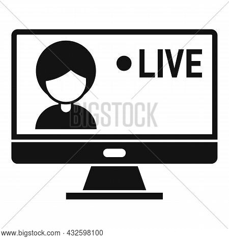 Live Stream Icon Simple Vector. Video Online. Live Air Event