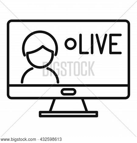 Live Stream Icon Outline Vector. Video Online. Live Air Event