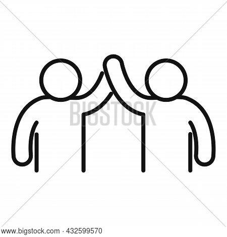 Trust Union Icon Outline Vector. Friend Cooperation. Trust Love