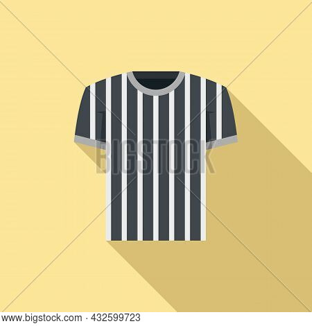 Referee Shirt Icon Flat Vector. Judge Penalty. Game Sport