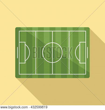 Soccer Field Icon Flat Vector. Stadium Pitch. Top Football Match