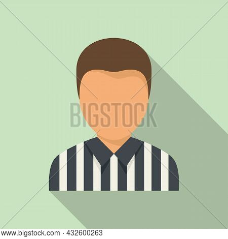 American Football Referee Icon Flat Vector. Whistle Penalty. Sport Judge