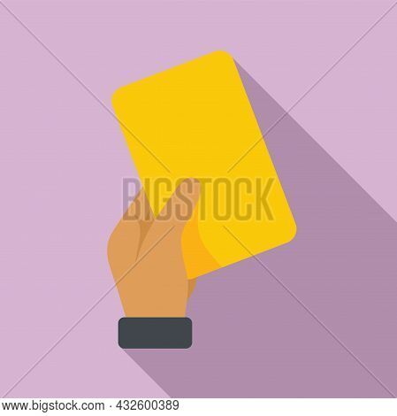 Referee Yellow Card Icon Flat Vector. Soccer Penalty. Football Judge