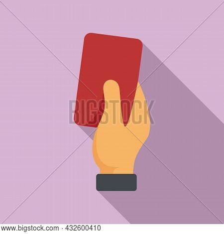 Soccer Referee Red Card Icon Flat Vector. Football Penalty. Sport Judge