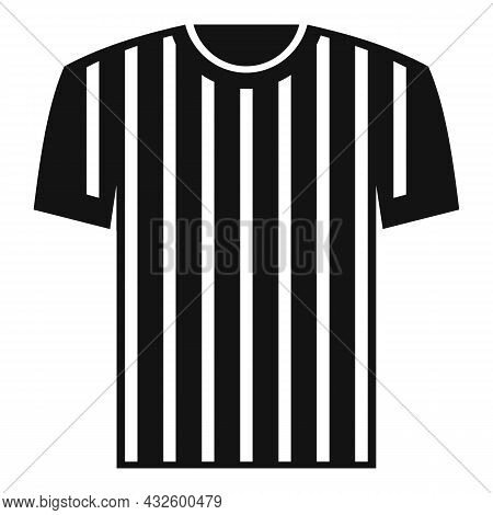 Referee Shirt Icon Simple Vector. Judge Penalty. Game Sport