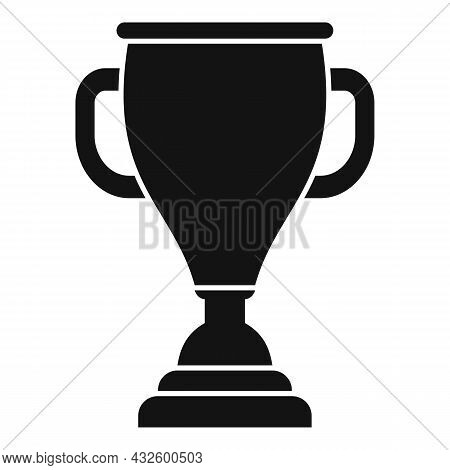 Sport Gold Cup Icon Simple Vector. Winner Trophy. Win Award