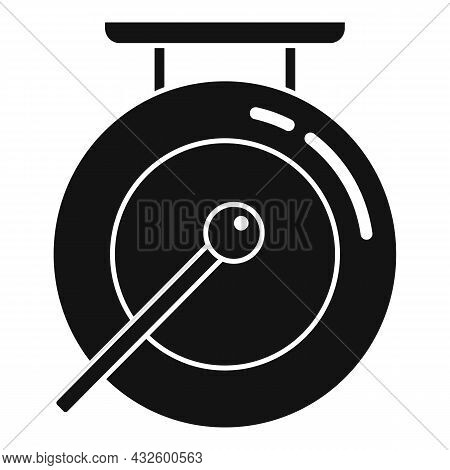 Signal Gong Icon Simple Vector. Asian Bell. Metal Drum