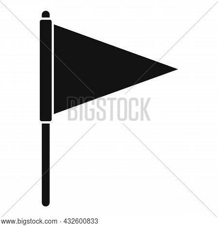 Pitch Flag Icon Simple Vector. Soccer Stadium. Corner Football