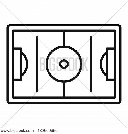 Football Field Icon Outline Vector. Soccer Pitch. Top Stadium