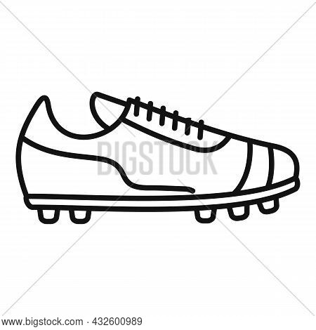Referee Boot Icon Outline Vector. Soccer Coach. Foul Player