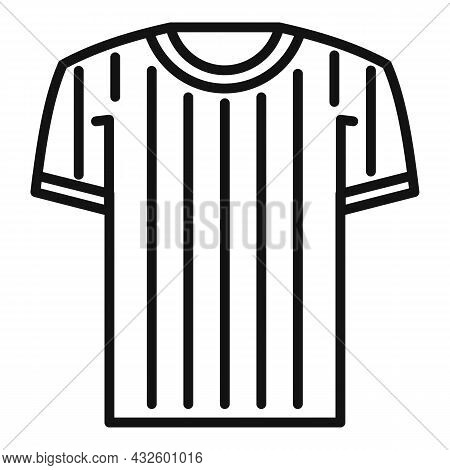 Referee Shirt Icon Outline Vector. Judge Penalty. Game Sport