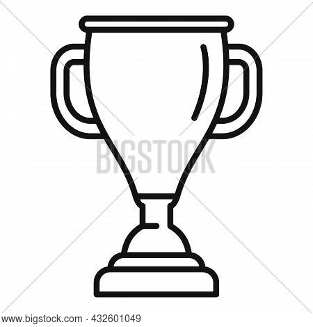 Sport Gold Cup Icon Outline Vector. Winner Trophy. Win Award