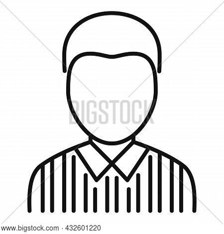 American Football Referee Icon Outline Vector. Whistle Penalty. Sport Judge