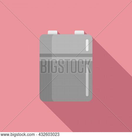 Nickel Battery Icon Flat Vector. Full Charge. Phone Lithium