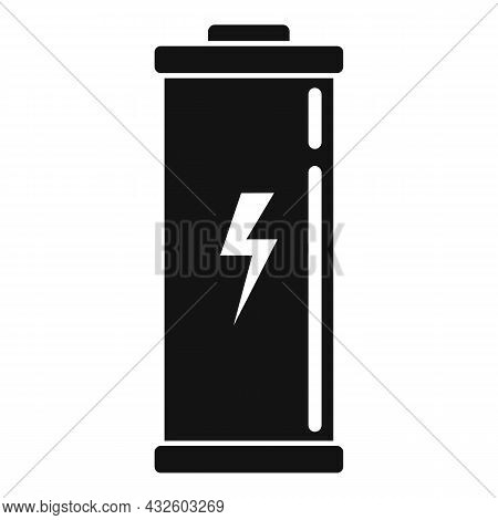 Lithium Battery Icon Simple Vector. Full Energy. Electric Life
