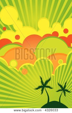 Summer Bright Color Poster