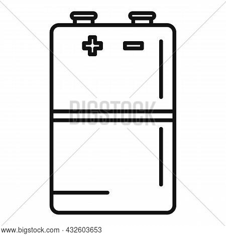 Lithium Battery Icon Outline Vector. Full Energy. Electric Life