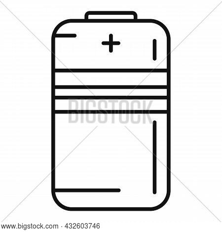 Battery Life Icon Outline Vector. Full Energy. Cell Charger