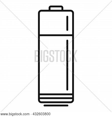 Mobile Battery Icon Outline Vector. Full Power. Electric Cell