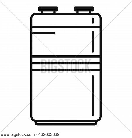 Metal Battery Icon Outline Vector. Full Energy. Life Charger
