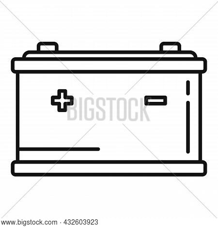 Auto Battery Icon Outline Vector. Full Charge. Power Accumulator