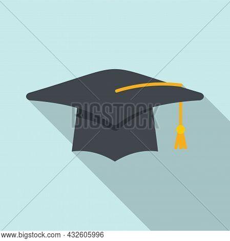 Student Graduation Hat Icon Flat Vector. School Graduate. Academic Cap