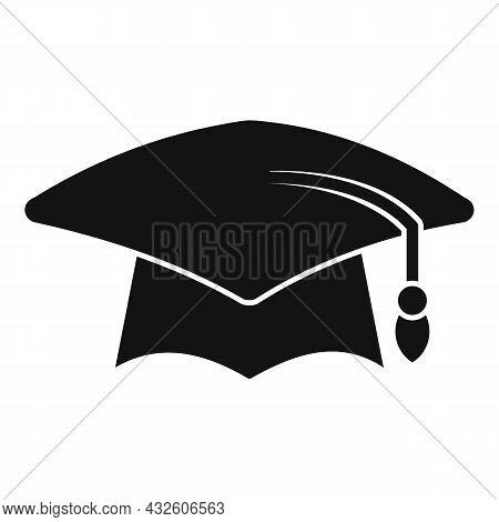School Graduation Hat Icon Simple Vector. Academy Student. Academic Cap